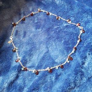 Jewelry - Garnet and aquamarine choker necklace